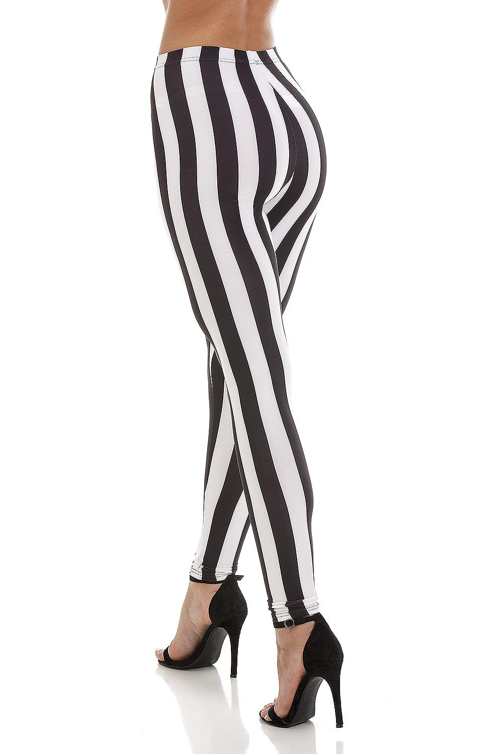 Striped Leggings Black White (5) (Custom)