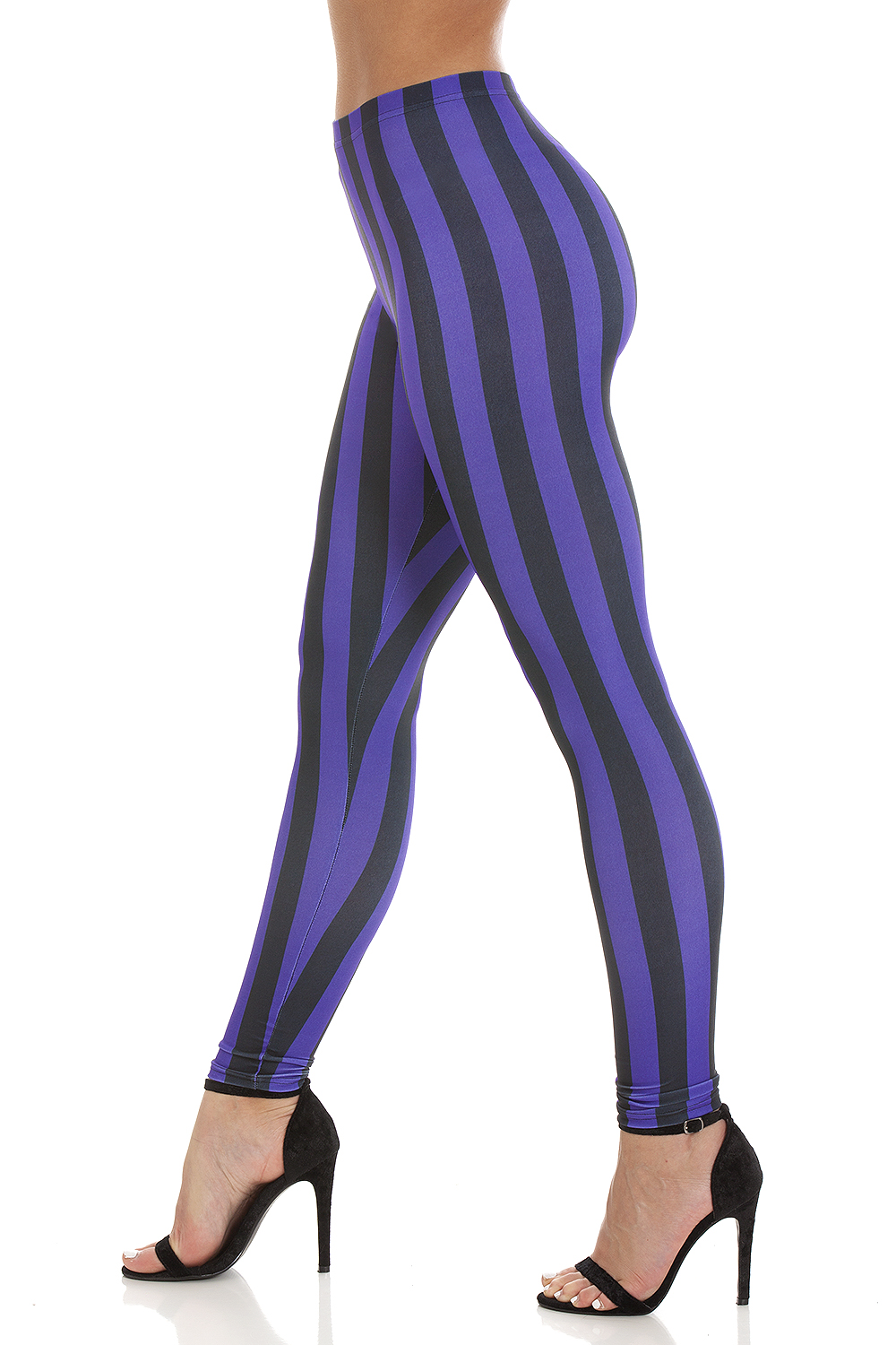 Striped Leggings Purple Black (7)