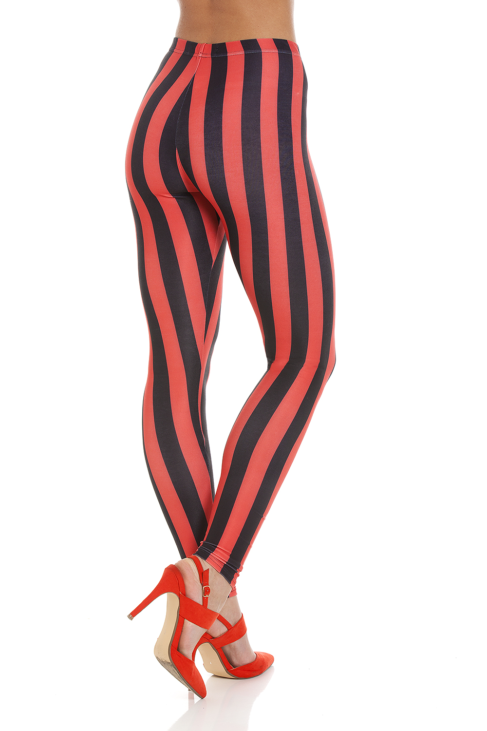 professional product photography on amazon white backdrop photoshoot photography of womens striped leggings for online retailer